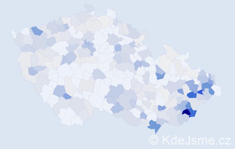 Příjmení: 'Bačová', počet výskytů 829 v celé ČR