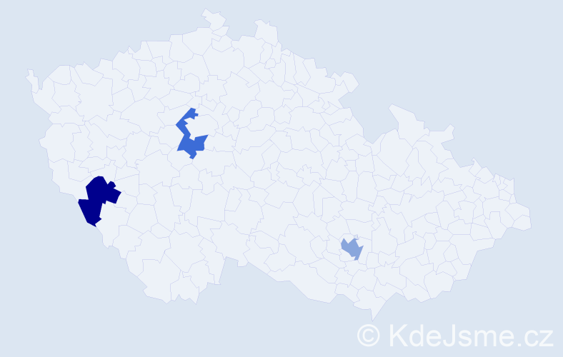 Příjmení: 'Ehrle', počet výskytů 3 v celé ČR