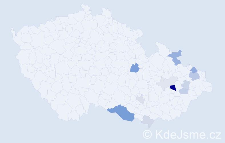 Příjmení: 'Golomb', počet výskytů 29 v celé ČR
