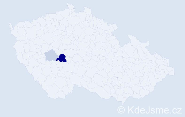 Příjmení: 'Guľášová', počet výskytů 5 v celé ČR