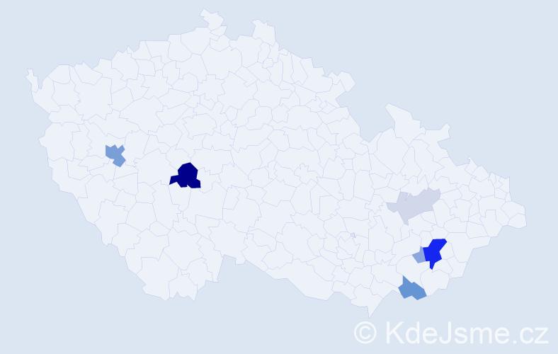 Příjmení: 'Graubner', počet výskytů 20 v celé ČR