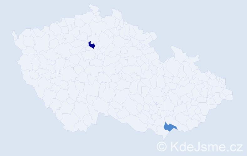 Příjmení: 'Jorík', počet výskytů 4 v celé ČR