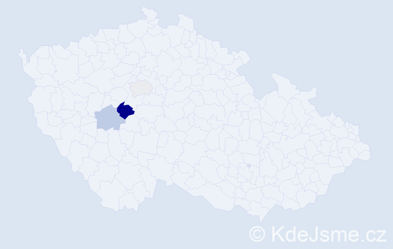 Příjmení: 'Gyárfás', počet výskytů 5 v celé ČR