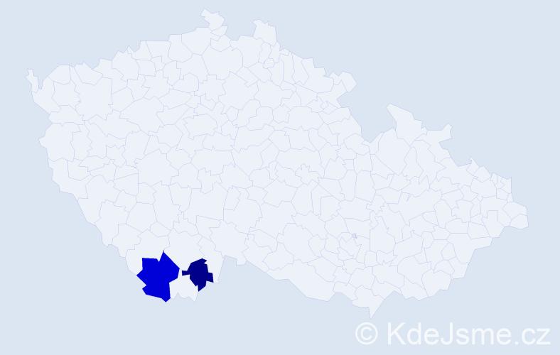 Příjmení: 'Itu', počet výskytů 3 v celé ČR
