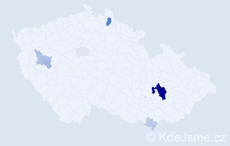 Příjmení: 'Fica', počet výskytů 24 v celé ČR