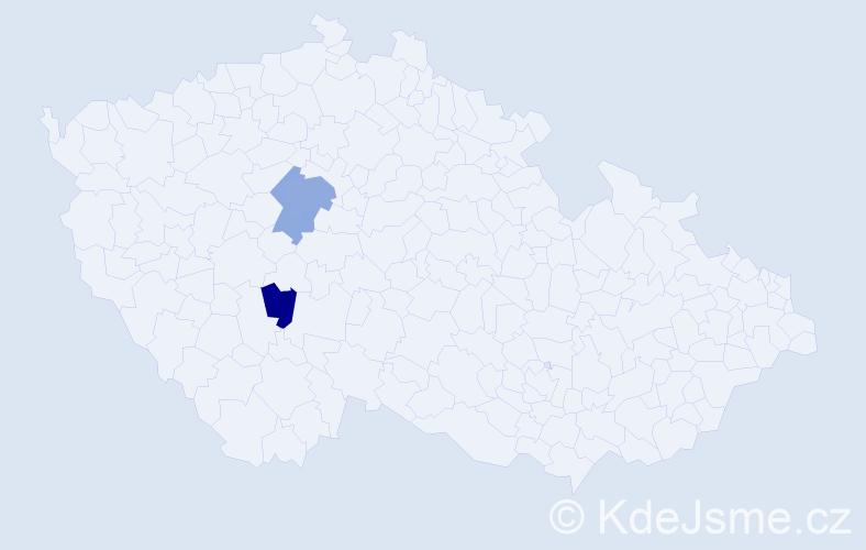 Příjmení: 'Garbaczewski', počet výskytů 9 v celé ČR