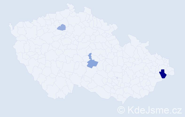 Příjmení: 'Čárková', počet výskytů 7 v celé ČR
