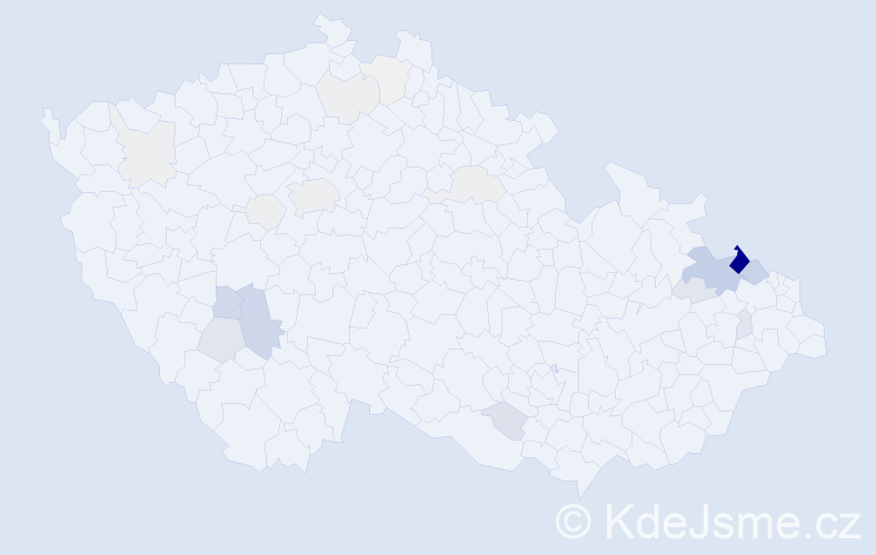 Příjmení: 'Drastík', počet výskytů 102 v celé ČR