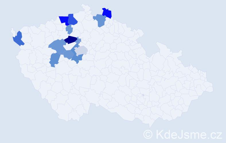 Příjmení: 'Barsová', počet výskytů 43 v celé ČR