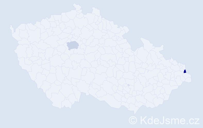 Příjmení: 'Fürstenzeller', počet výskytů 3 v celé ČR