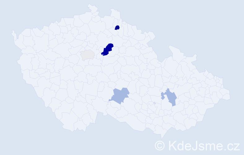 Příjmení: 'Kalicov', počet výskytů 7 v celé ČR