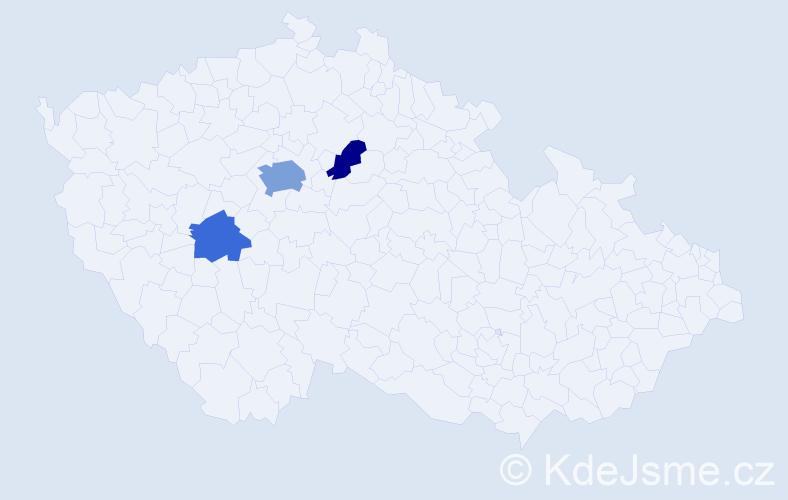 Příjmení: 'Čok', počet výskytů 7 v celé ČR