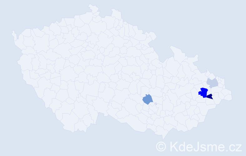 Příjmení: 'Esterkes', počet výskytů 9 v celé ČR