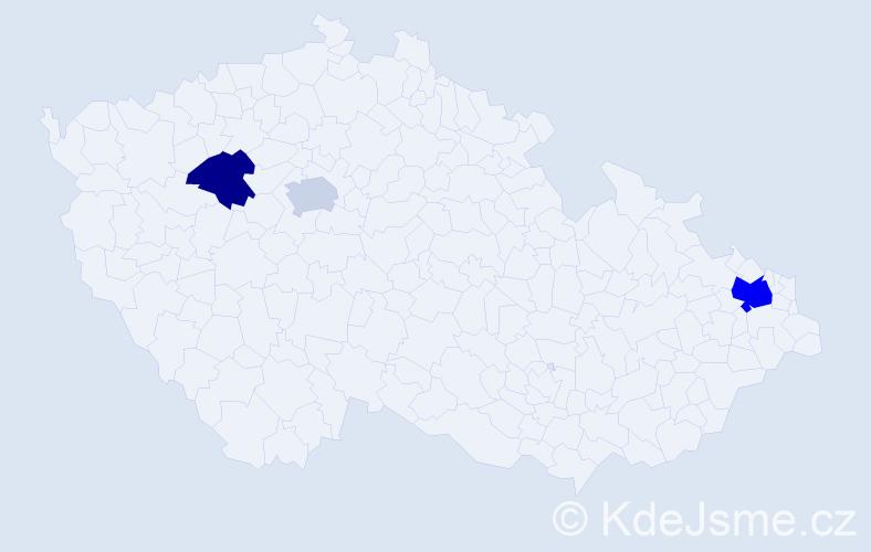 Příjmení: 'Lebica', počet výskytů 5 v celé ČR