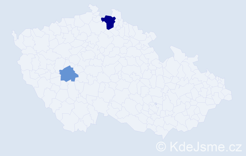 Příjmení: 'Gajancová', počet výskytů 5 v celé ČR