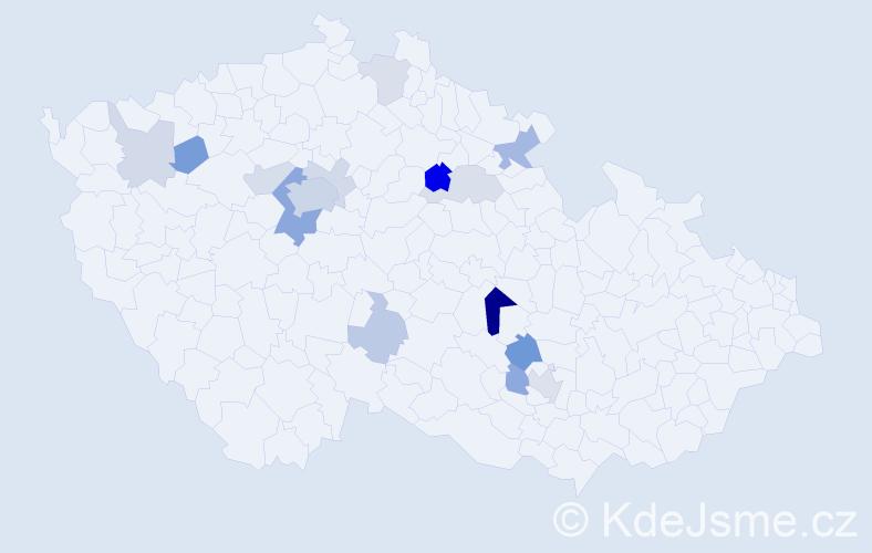Příjmení: 'Laifr', počet výskytů 36 v celé ČR