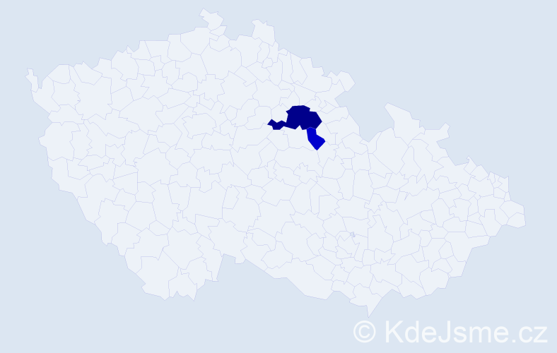 Příjmení: 'Aliňák', počet výskytů 8 v celé ČR