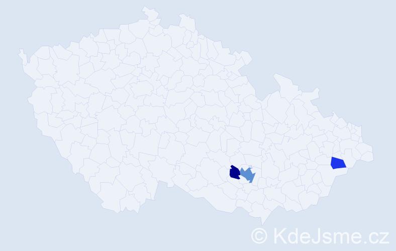 Příjmení: 'Elingrová', počet výskytů 6 v celé ČR