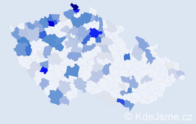 Příjmení: 'Kovač', počet výskytů 324 v celé ČR