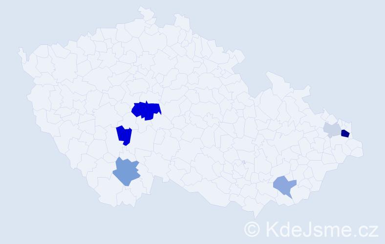 Příjmení: 'Beňatinský', počet výskytů 13 v celé ČR