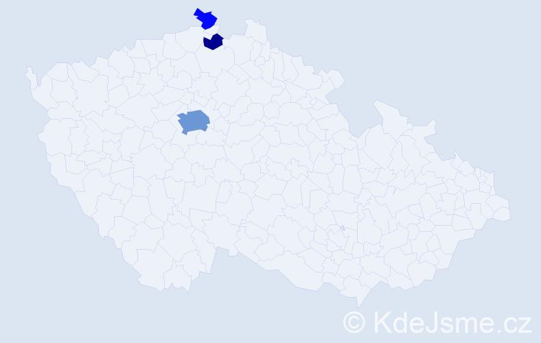 Příjmení: 'Bylová', počet výskytů 11 v celé ČR