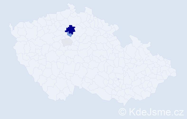 Příjmení: 'Lajmr', počet výskytů 8 v celé ČR