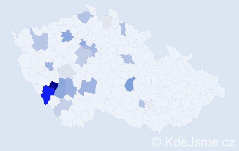 Příjmení: 'Hejlík', počet výskytů 82 v celé ČR