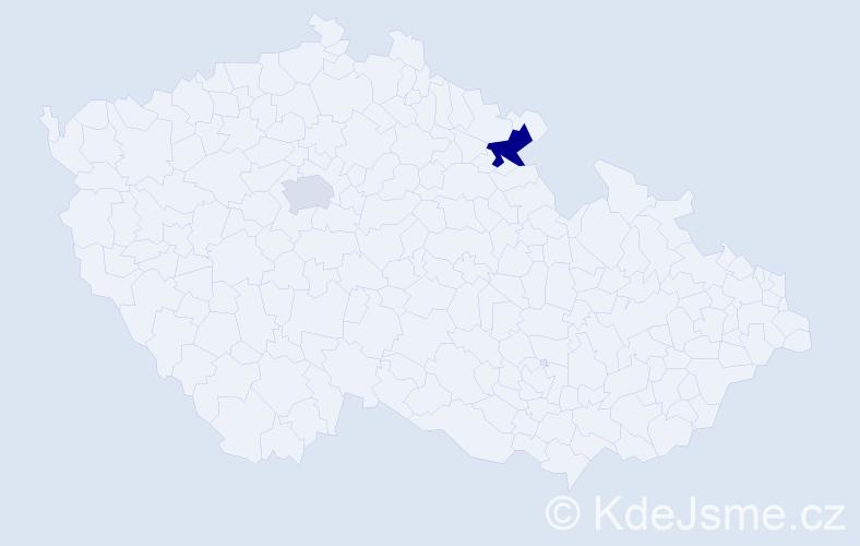 Příjmení: 'Fúrová', počet výskytů 3 v celé ČR