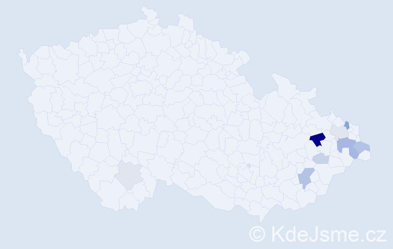Příjmení: 'Holubčík', počet výskytů 20 v celé ČR
