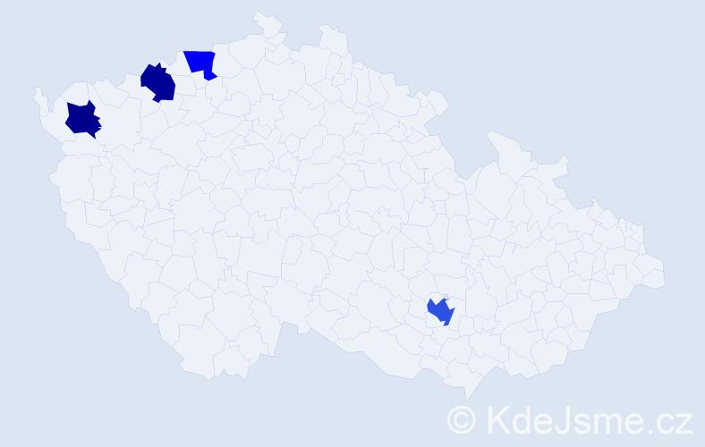 Příjmení: 'Endisch', počet výskytů 5 v celé ČR