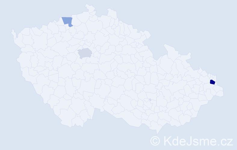 Příjmení: 'Arichtev', počet výskytů 7 v celé ČR