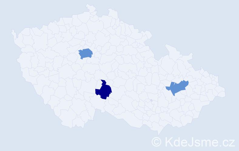 Příjmení: 'Buckley', počet výskytů 8 v celé ČR