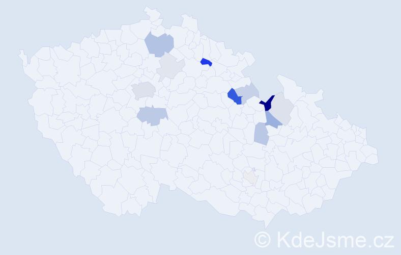 Příjmení: 'Leimerová', počet výskytů 32 v celé ČR