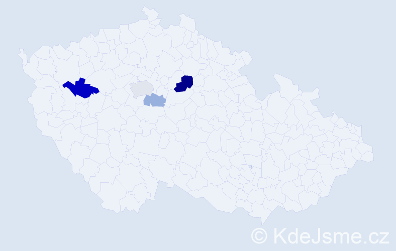 Příjmení: 'Ipolt', počet výskytů 8 v celé ČR