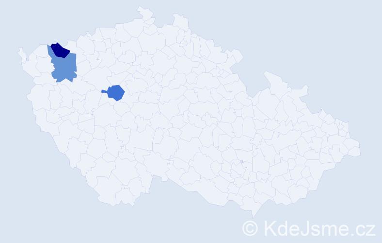 Příjmení: 'Eberlein', počet výskytů 3 v celé ČR