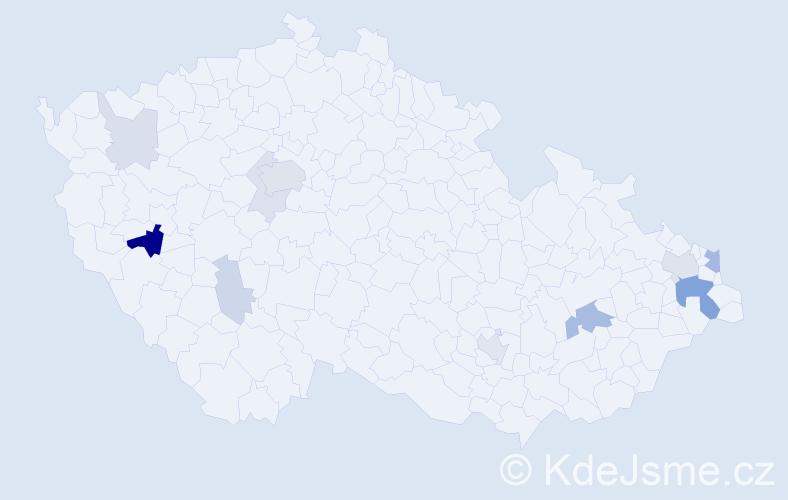 Příjmení: 'Lautnerová', počet výskytů 32 v celé ČR
