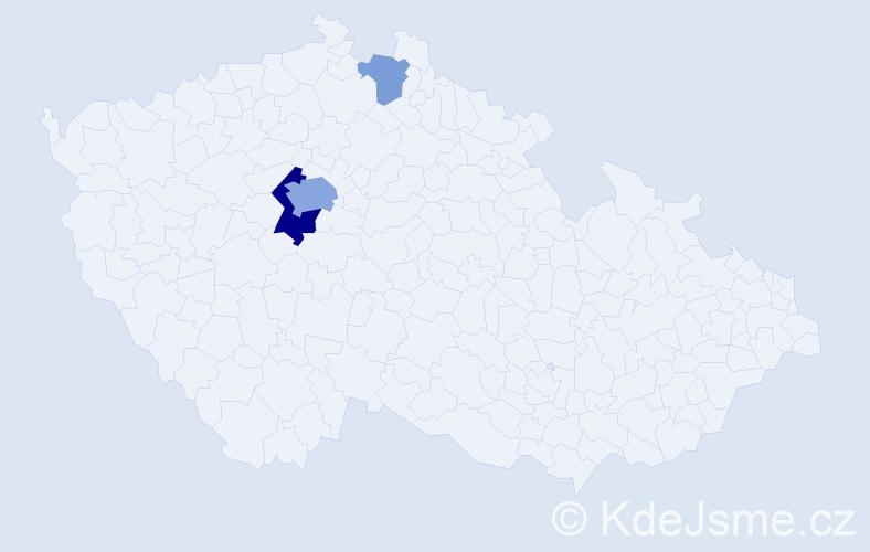 Příjmení: 'Fontanová', počet výskytů 9 v celé ČR