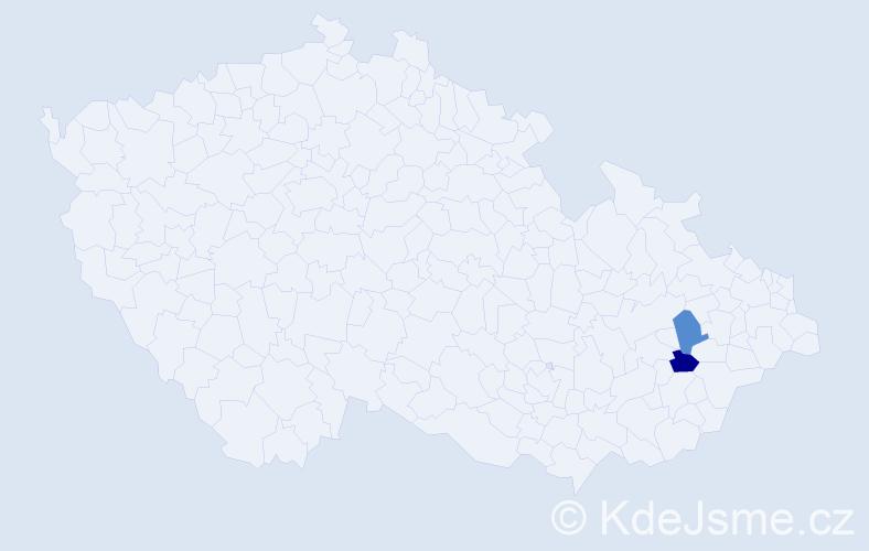 Příjmení: 'Černotský', počet výskytů 2 v celé ČR