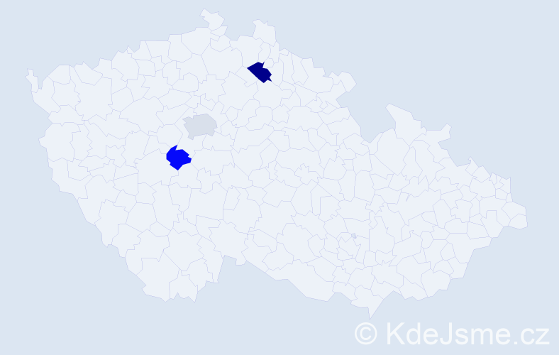 Příjmení: 'Braunsbergerová', počet výskytů 5 v celé ČR