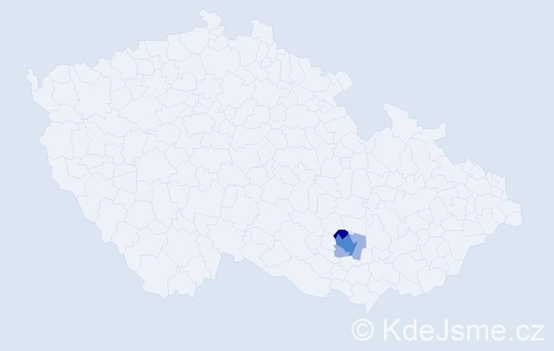 Příjmení: 'Danhofer', počet výskytů 14 v celé ČR
