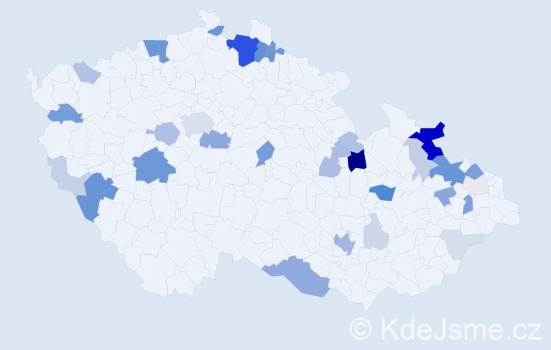 Příjmení: 'Blaschke', počet výskytů 120 v celé ČR