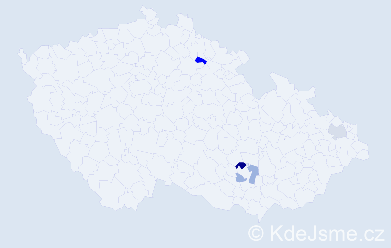 Příjmení: 'Geissel', počet výskytů 5 v celé ČR