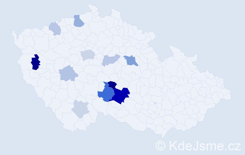 Příjmení: 'Brambůrek', počet výskytů 31 v celé ČR