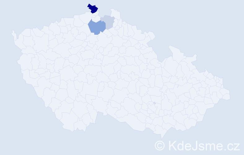 Příjmení: 'Gottlieberová', počet výskytů 7 v celé ČR