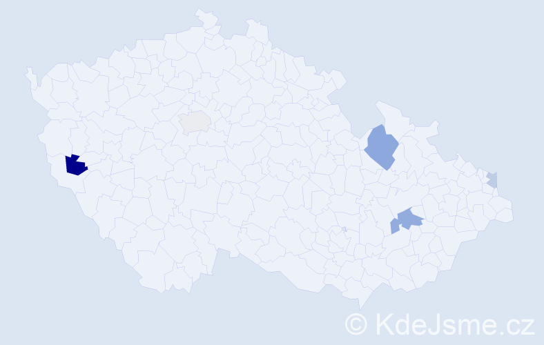 Příjmení: 'Csókás', počet výskytů 8 v celé ČR