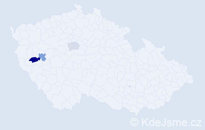 Příjmení: 'Ibrová', počet výskytů 8 v celé ČR