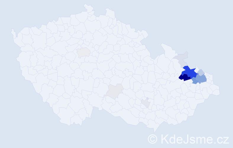 Příjmení: 'Balnar', počet výskytů 73 v celé ČR