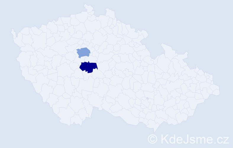 Příjmení: 'Klavrza', počet výskytů 8 v celé ČR