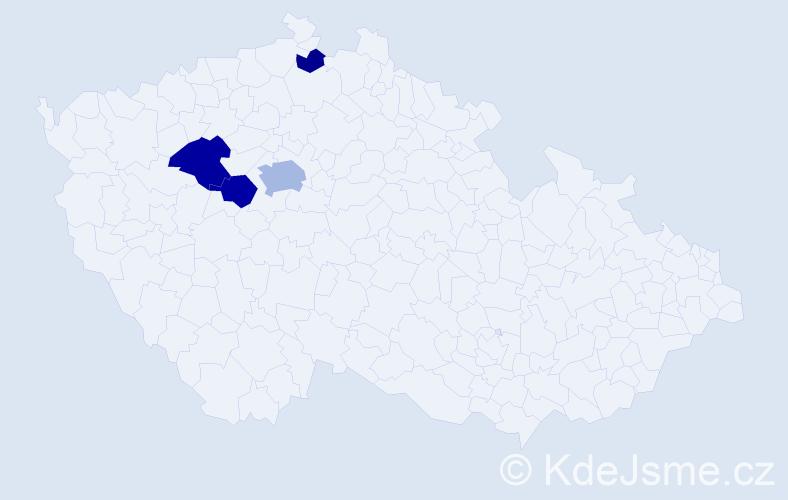 Příjmení: 'Houžvík', počet výskytů 9 v celé ČR