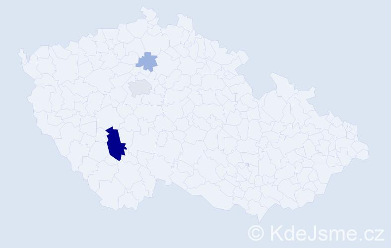 Příjmení: 'Cibeliusová', počet výskytů 11 v celé ČR